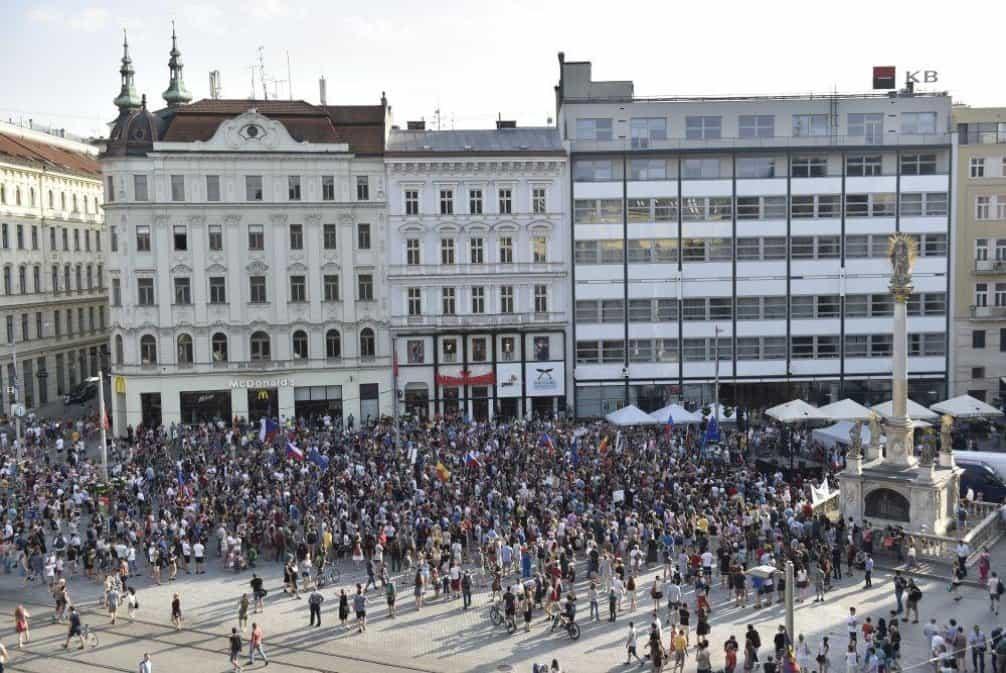 Demonstrace Za nezávislou justici v Brně