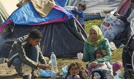 Migranti na řecko-makedonské hranici, ilustrační foto