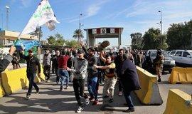 Protiamerická demonstrace v bagdádu