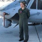 Pilotka Catherine Sparklin už se svou helikoptérou UH-1Y Venom zachraňovala i lidi v USA. Při nedávných hurikánech měla na starosti evakuaci ohrožených.