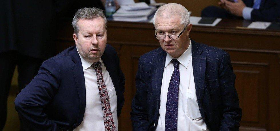 Vedení ANO. Richard Brabec a Jaroslav Faltýnek