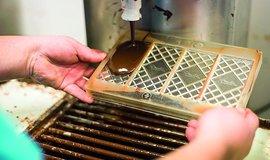 Zpracování čokolády ve firmě Jordi´s Chocolate