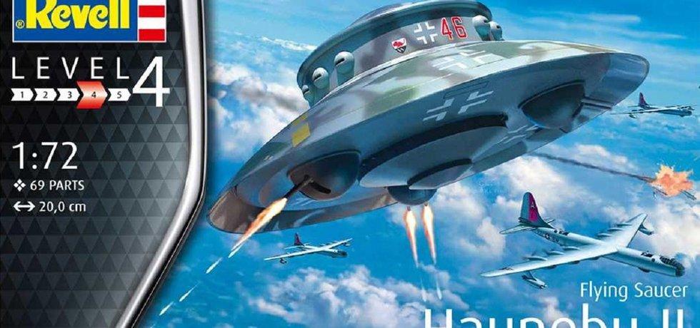Stavebnice nacistického létajícího talíře firmy Revell