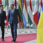 Předseda Evropské rady Donald Tusk a ukrajinský prezident Volodymyr Zelenskyj