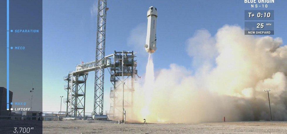 Blue Origin uskutečnil suborbitální let pro NASA