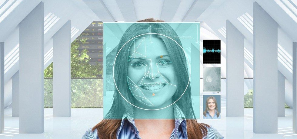 Technologie rozpoznávání obličeje, ilustrační foto