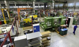 Takto vypadal 18. října provoz v pražské továrně americké společnosti General Electric, která zamýšlí v Česku postavit nový závod pro vývoj, testování a výrobu turbovrtulových motorů.