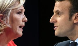 Francouzští prezidentští kandidáti Marine Le Penová a Emmanuel Macron