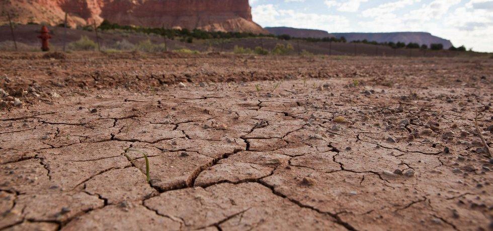 Sucho v americkém Utahu