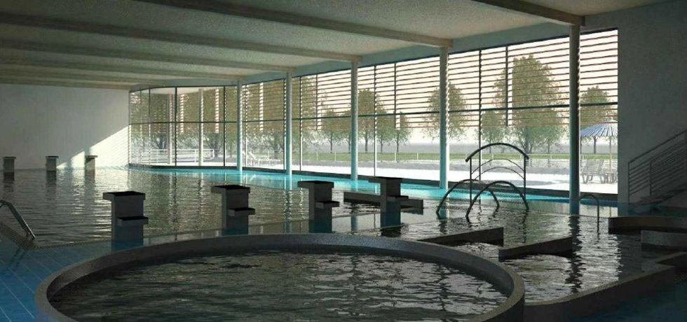 Vizualizace radotínského bazénu. Autor Ing. arch. Borek Strádal