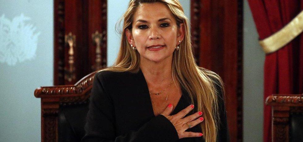 Dočasná prezidentka Bolívie Jeanine Áňezová