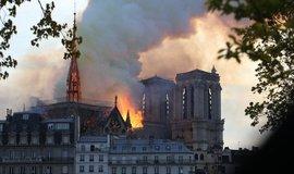 Požár pařížské katedrály Notre-Dame