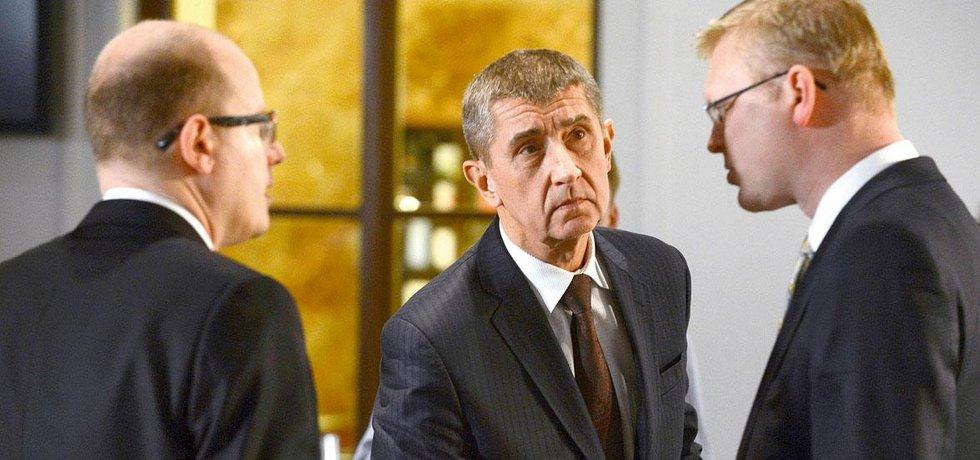 Bohuslav Sobotka, Andrej Babiš, Pavel Bělobrádek