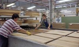 Výroba dřevotřískových desek ve společnosti Jitona v Soběslavi