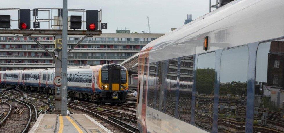 Železnice v Anglii, ilustrační foto