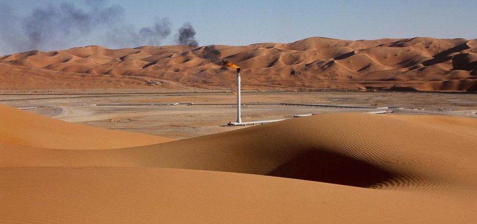 Těžba ropy v Saúdské Arábii, ilustrační foto