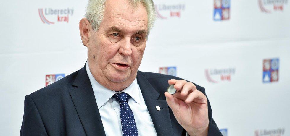 Miloš Zeman při návštěvě Libereckého kraje