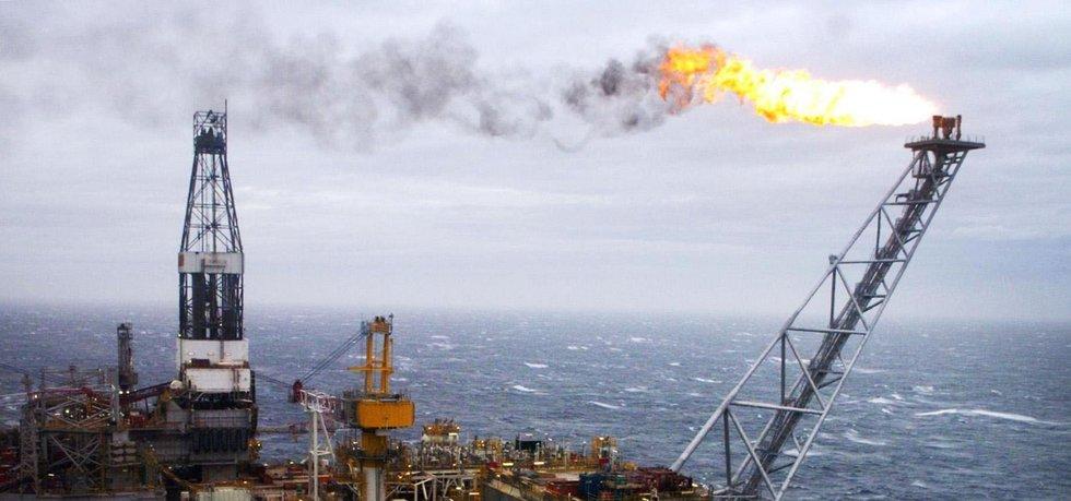 Ropná plošina v Severním moři