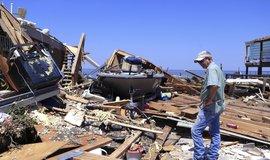 Dům zničený hurikánem Harvey