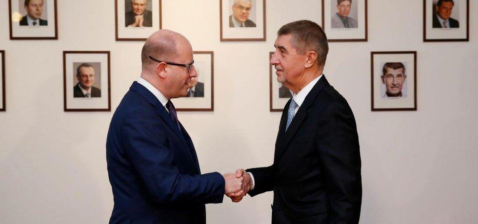 Bohuslav Sobotka a Andrej Babiš