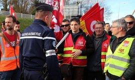 Stávka ve Francii, ilustrační foto