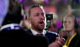 Hlavní ideolog Švédských demokratů Mattias Karlsson