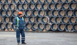 Potrubí pro výstavbu plynovodu South Stream v Bulharsku v roce 2014, ilustrační foto