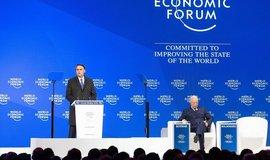 Projev brazilského prezidenta Jaira Bolsonara na ekonomickém fóru v Davosu.