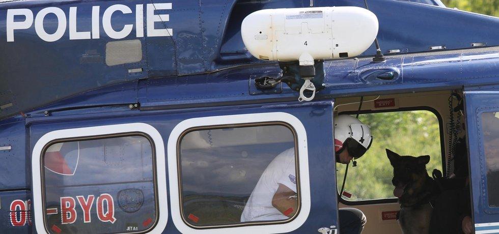 Policejní vrtulník, ilustrační foto