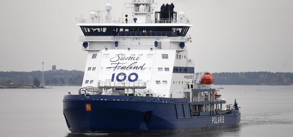 Polaris, první ledoborec na světě poháněný LNG.