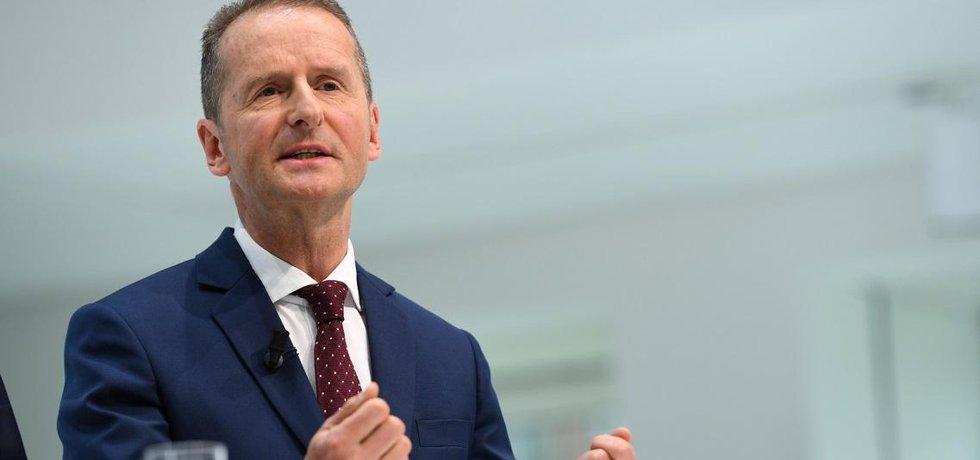 Šéf Volkswagenu Herbert Diess