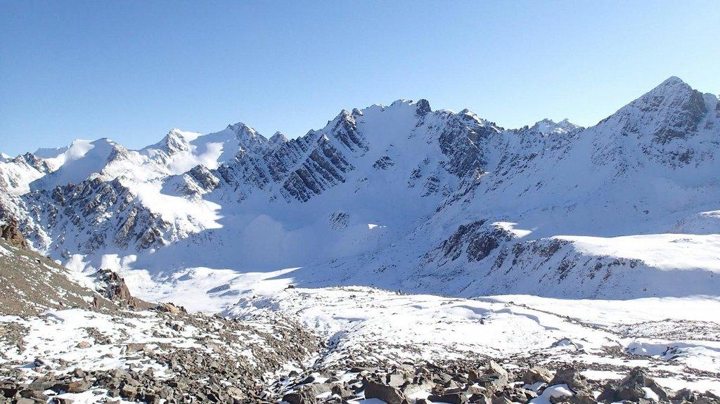 Neúspěšný pokus vyškrábat se do průsmyku v pohoří Ťan-šan.