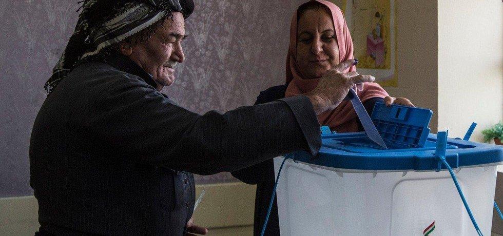 Hlasování v referendu o nezávislosti Kurdů v severním Iráku