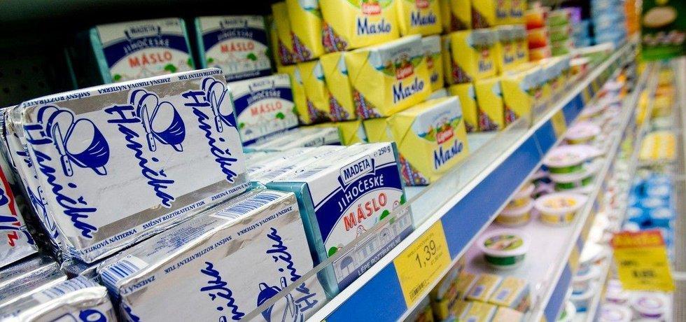 Nabídka másla, ilustrační foto