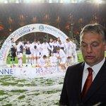 Maďarský premiér Viktor Orbán při slavnostním otevření Pancho Areny ve vesnici Felcsút