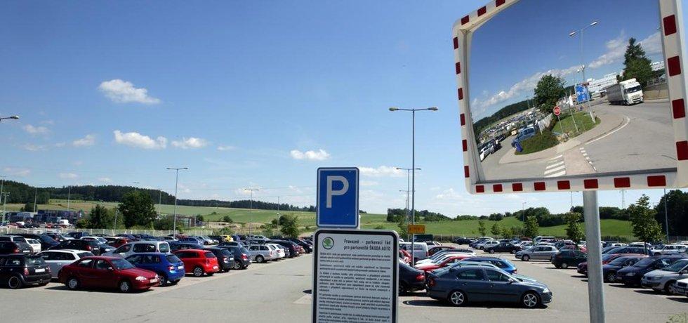 Parkoviště v Kvasinách