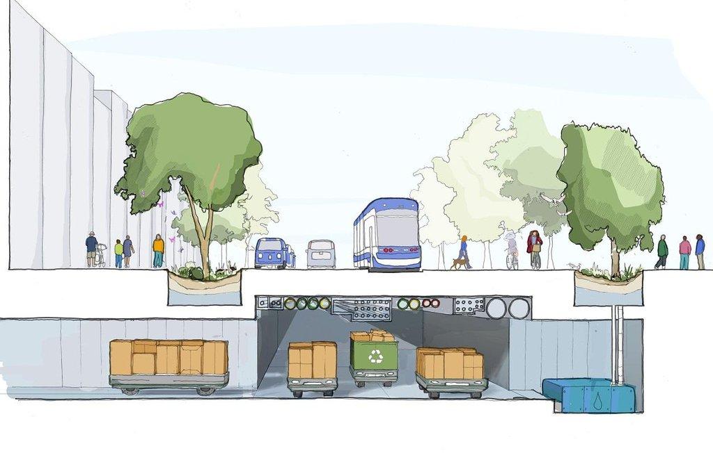 Město budoucnosti podle Sidewalk Labs. Odpady mají být pod zemí.