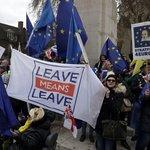 Demonstrace příznivců brexitu, ilustrační foto