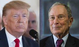Donald Trump a Michael Bloomberg