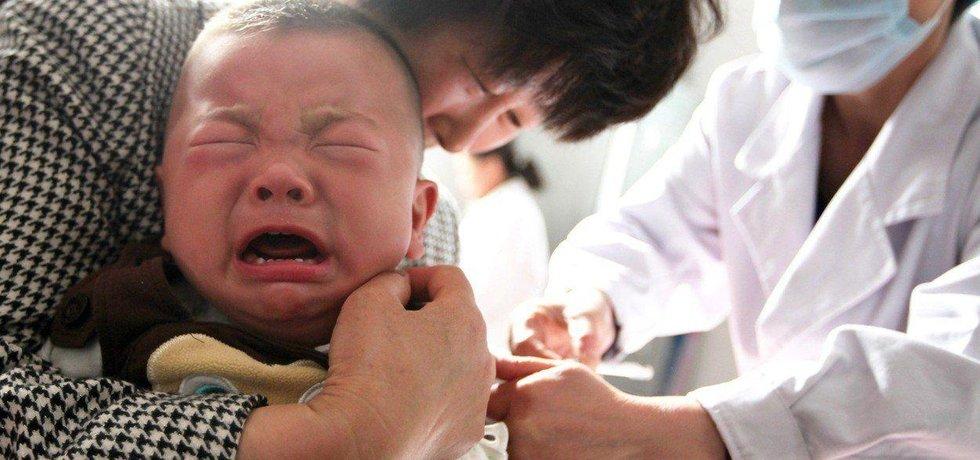 Očkování dětí v Číně, ilustrační foto