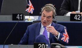 Bývalý lídr UKIP Nigal Farage v evropském parlamentu