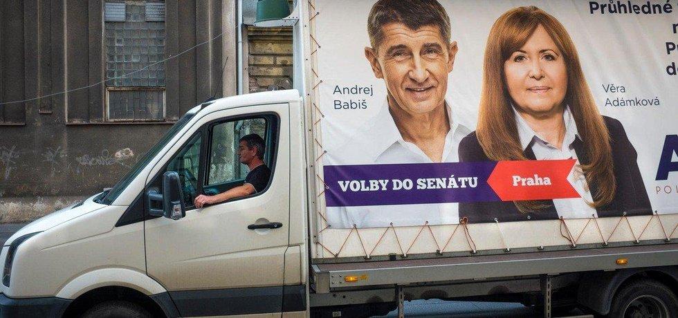 Věra Adámková s Andrejem Babišem