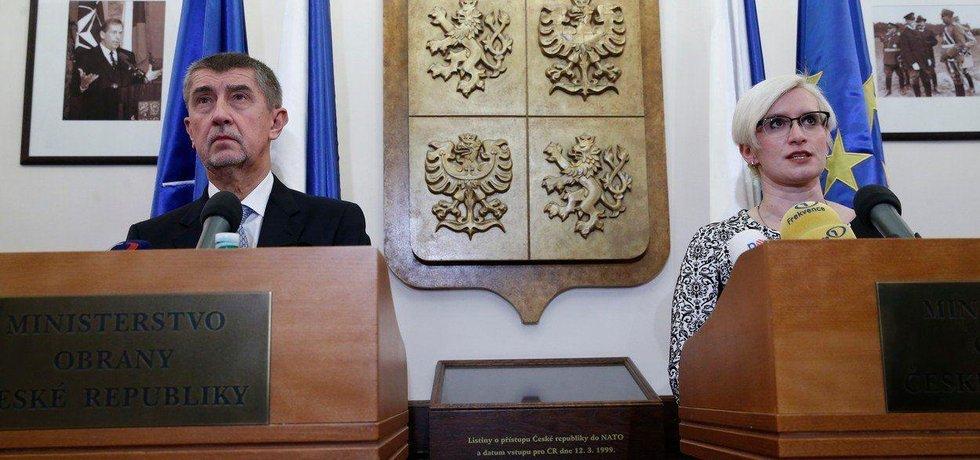 Andrej Babiš a Karla Šlechtová