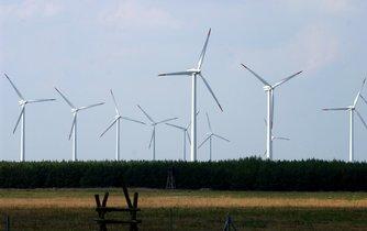 Větrné turbíny - ilustrační foto