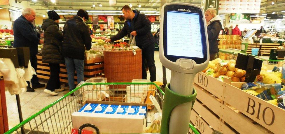 Obchod - nakupování se skenery