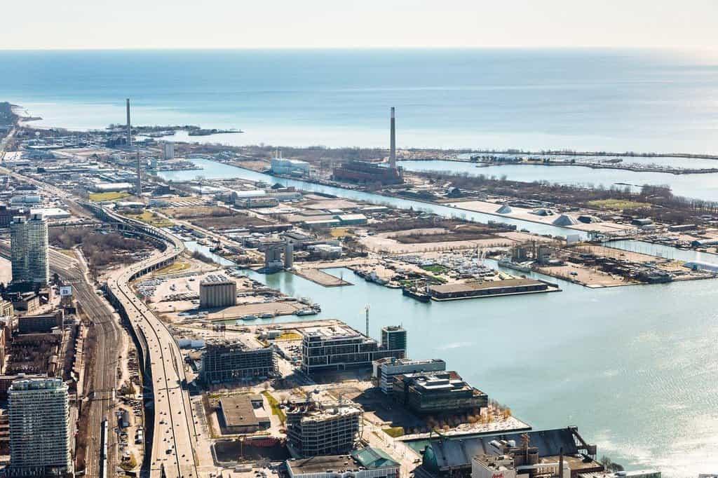 Přístav v Torontu, který má být revitalizován.