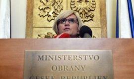 Karla Šlechtová při posledním vystoupení v roli ministryně obrany