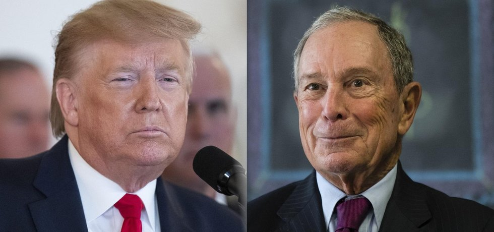 Donald Trump a Michael Bloomberg