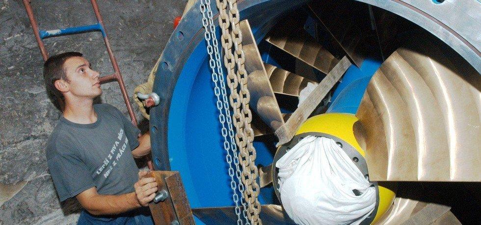 Vodní turbína - ilustrační foto