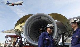 Letecký motor, ilustrační foto